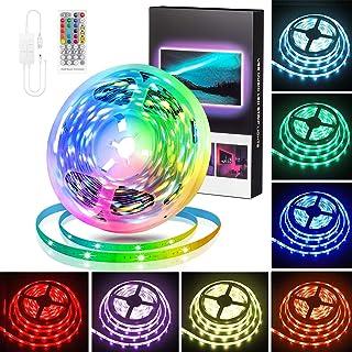 LED Strip 5m, Swonuk RGB LED Streifen mit IR Fernbedienung, TV Hintergrundbeleuchtung , RGB 5050 LED Lichter Sync Musik fü...
