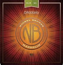 D'Addario NBM11541 Nickel Bronze Mandolin Strings, Medium Heavy, 11.5-41