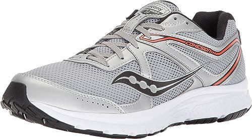 Saucony Men's Cohesion 11 Running chaussures, argent Orange, 10 Medium US