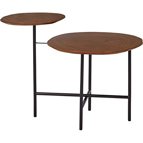 Amazon Brand Rivet Mid Century Modern Wood And Metal 2 Tiered Side End Accent Table 20 W Walnut Furniture Decor
