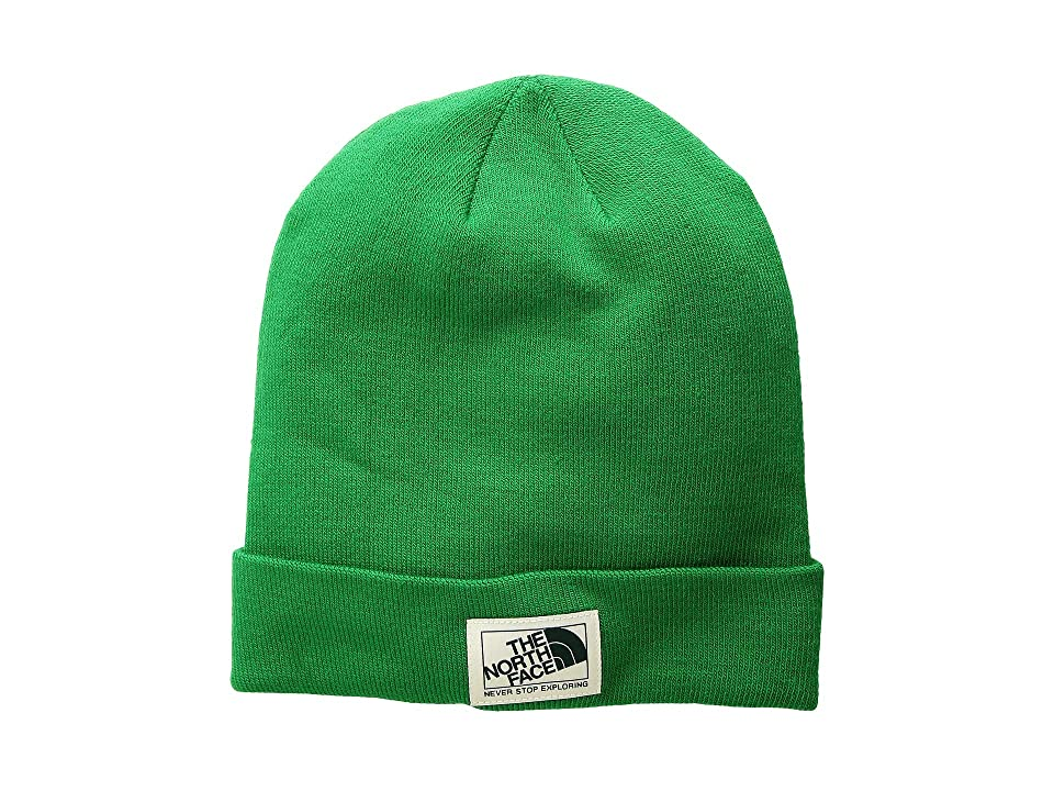 The North Face Dock Worker Beanie (Primary Green/Vintage White) Beanies