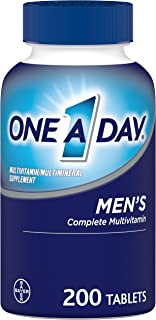 One A Day Men's Multivitamin, Supplement with Vitamin A, Vitamin C, Vitamin D, Vitamin E and Zinc for Immune Health Suppor...