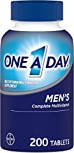 One A Day Men's Multivitamin, Supplement with Vitamin A, Vitamin C, Vitamin D, Vitamin E and Zinc for Immune Health Support*, B12, Calcium & more, 200 count