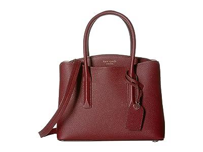 Kate Spade New York Margaux Medium Satchel (Cherrywood) Satchel Handbags