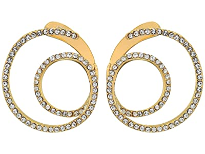 Vince Camuto Twisty Wrap Around Earrings with Pave (Gold/Crystal) Earring