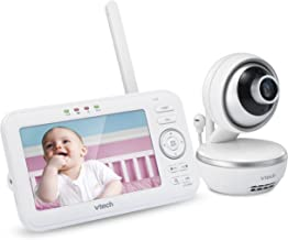 """VTech VM5261 5"""" Digital Video Baby Monitor with Pan & Tilt Camera, Wide-Angle Lens and Standard Lens, White"""