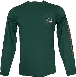 Vineyard Vines Men's Long-Sleeve Greetings from VV Pocket T-Shirt