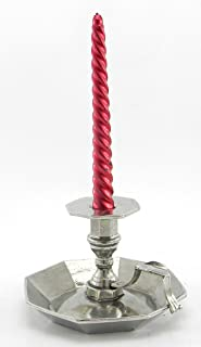 Portacandela centrotavola peltro argento regalo bomboniera classico per matrimonio in metallo