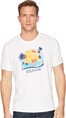 Soccer Palm Trees Smooth Tee