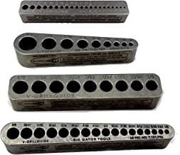product image for Big Gator Tools BGT V-4 Pack V-Drill Guide SAE + Number Hole Sizes 4pc Kit