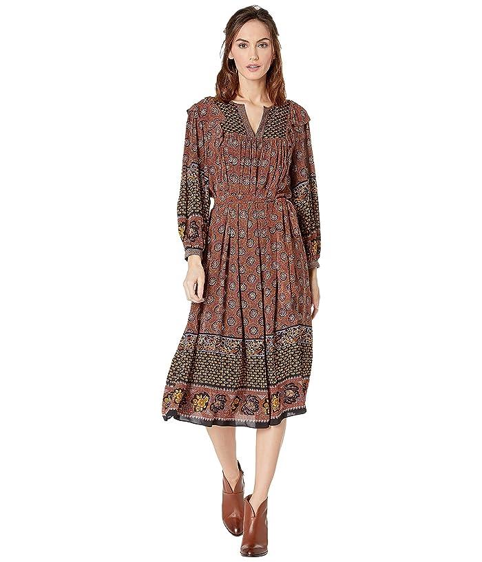 70s Dresses – Disco Dress, Hippie Dress, Wrap Dress Frye Jenna Dress Jasmine Black Border Womens Dress $179.10 AT vintagedancer.com