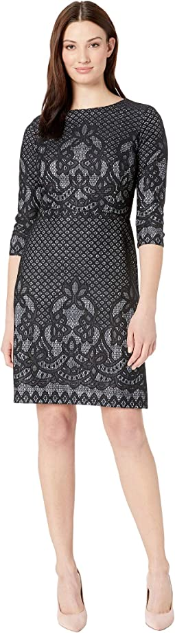 Bonded Lace Pattern Dress