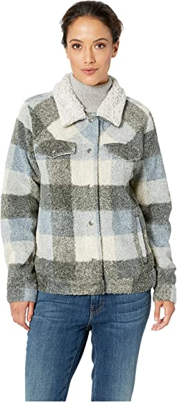 Heather Melange Plaid Jean Jacket