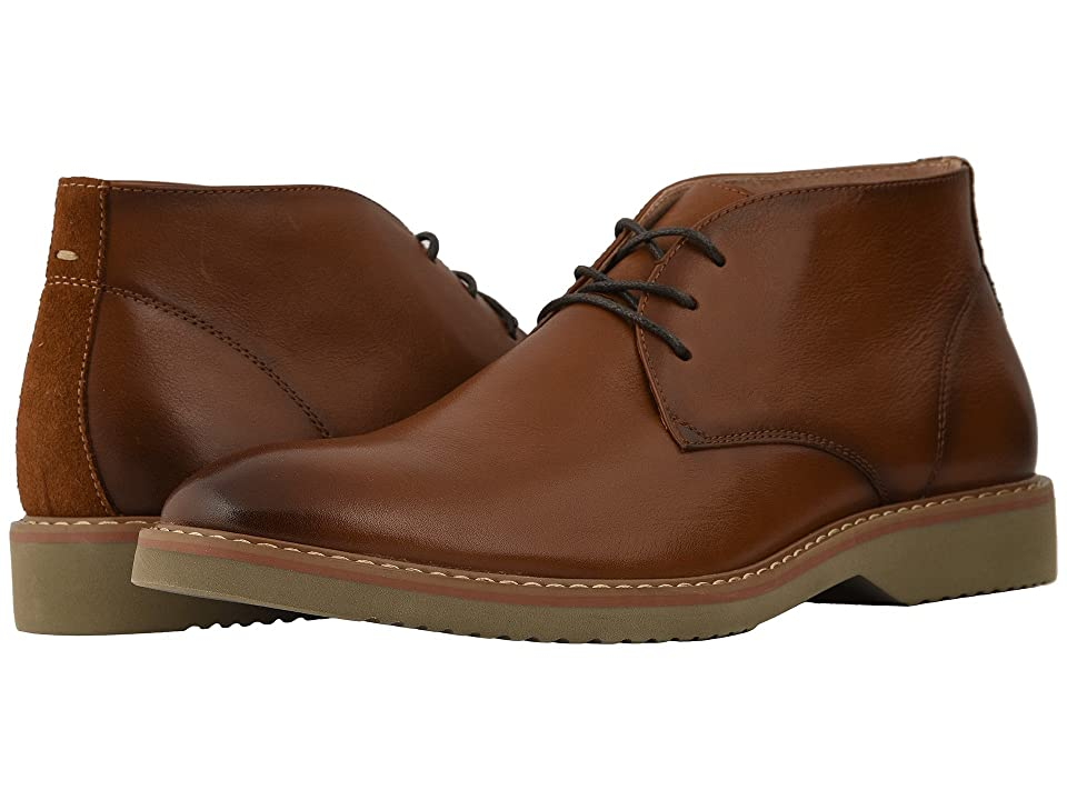 Florsheim Union Plain Toe Chukka Boot (Saddle Tan Leather/Suede) Men