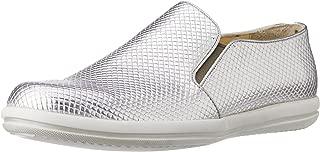 CG Shoe Men's Silver Leather Sneakers - 7 UK (CG-TK 33)