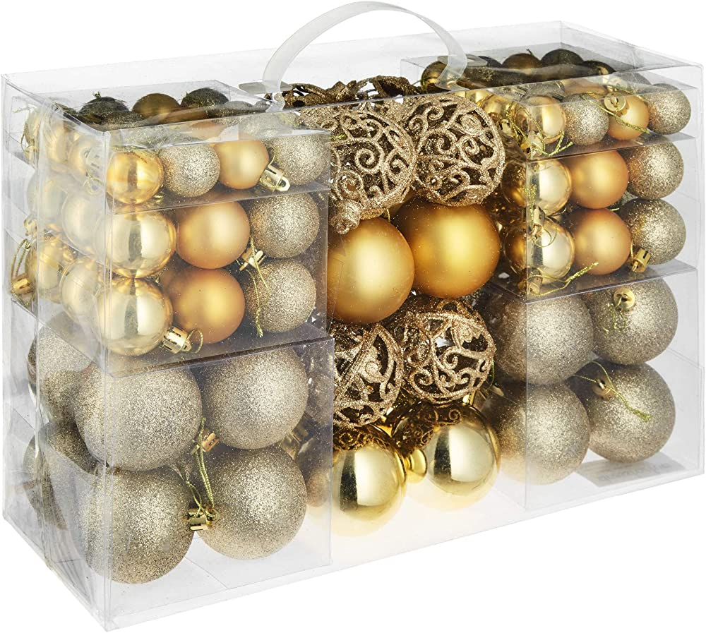 Tectake set di 100 pezzi palline di natale, 403323