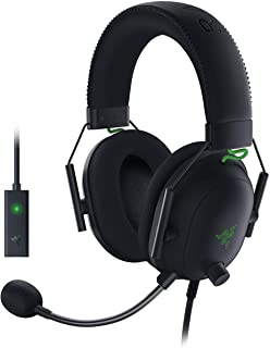 Razer BlackShark V2 Auriculares con Tarjeta de Sonido USB, Auriculares para Juegos Esports, Cable con Controlador de 50 m...