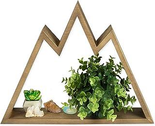 Barnwood Floating Mountain Shelf - Rustic Wood Mountains Adventure Wall Decor - Perfect for Nursery, Bedroom or Crystal Display