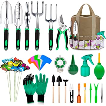 12pcs//24pcs Steel Garden Kit Gardening Tool Set w// Hand Storage Case a Wristband