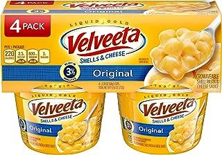 Kraft Velveeta Shells and Cheese, 4 Count per pack, 9.56 Oz