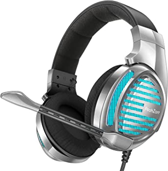PeohZarr Over-Ear 7.1 Surround NC Gaming Headphones with Mic