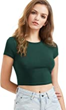 emerald green crop top