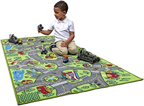 Kids Carpet Playmat City Life Extra Large Learn Have Fun Safe, Children's Educational, Road Traffic System, Multi Color Ac...
