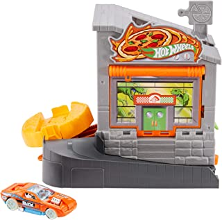 Hot Wheels Hw City Downtown Play Set (FRH28), Grey/Orange, GFY68