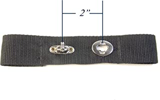 Extender Strap for Your Boat Cover, Horizontal Orientation, Turn Button Adds 2 Inches Finger Loops Built In, 1 Each