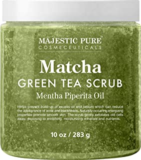Matcha Green Tea Body Scrub for All Natural Skin Care - Exfoliating Multi Purpose Body and Facial Scrub Moisturizes and No...