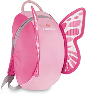 Backpack-Butterfly Animal Kids-Mochila, diseño de Mariposas, Unisex Adulto, Rosa, Talla única