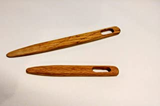 Toothbrush Needles/Rug Needles Sizes 4 and 6 inches, Oak Wood