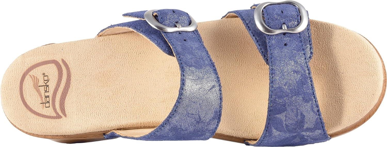 Dansko Women's Sophie White Metallic Leather