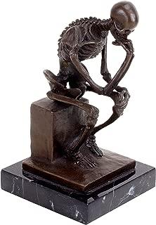 Kunst & Ambiente Modern Bronze Skeleton - The Thinker, After Auguste Rodin - By Milo