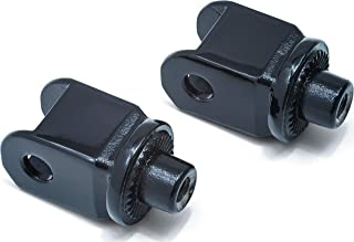 Kuryakyn 8863 Splined Male Mount Peg Adapters for Front Footpegs and Floorboards: 1996-2018 Honda Motorcycles, Gloss Black, 1 Pair