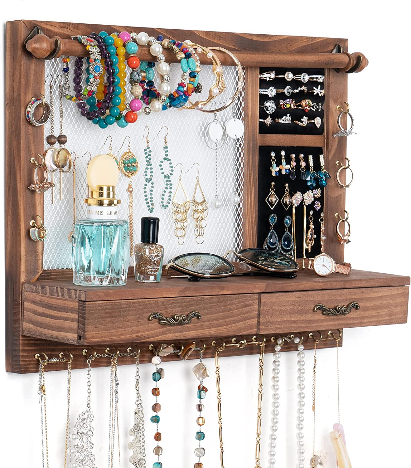JAZUIHA Wall Jewelry Organizer with 70% All stores are sold OFF Outlet Rod Ru Bracelet Mounted