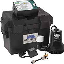 THE BASEMENT WATCHDOG Model BWSP 2,600 GPH at 0 ft. and 1,850 GPH at 10 ft. Special CONNECT Battery Backup Sump Pump Syste...