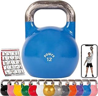 POWRX - Kettlebell Professionale 4-28 kg + PDF Workout