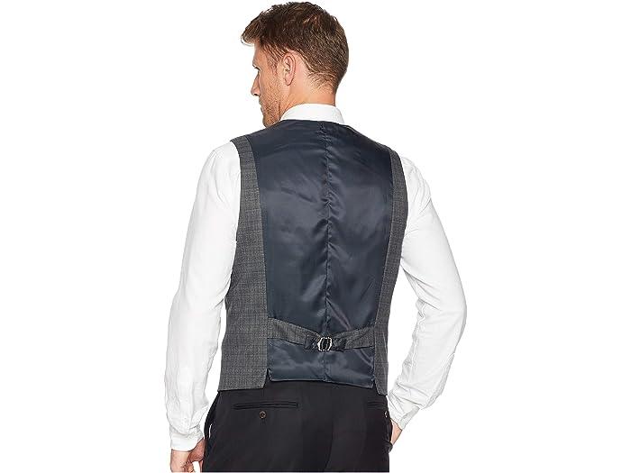 Perry Ellis Slim Fit Washable Plaid Suit Vest