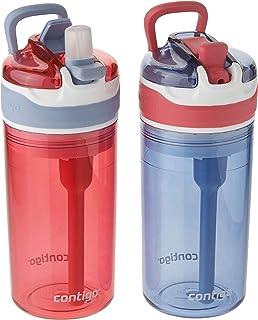 Contigo Kids 2-in-1 Snack Hero Tumbler 康迪克 零食杯饮水杯二合一儿童水瓶 13盎司 红色/蓝色 2件装