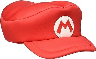 Bioworld EU Nintendo Super Bros. Kids Mario Logo Curved Hat, (HAY100506NTN) Boina, Rojo (Red Red), Talla única Unisex Adulto