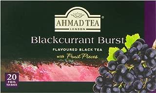 Ahmad Tea Blackcurrant Burst Black Tea, 20-Count Boxes (Pack of 6)