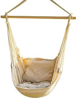 Jonas & Ely Fauteuil suspendu avec coussin jusqu'à 150 kg avec matériel de montage pour adultes et enfants – Chaise suspen...