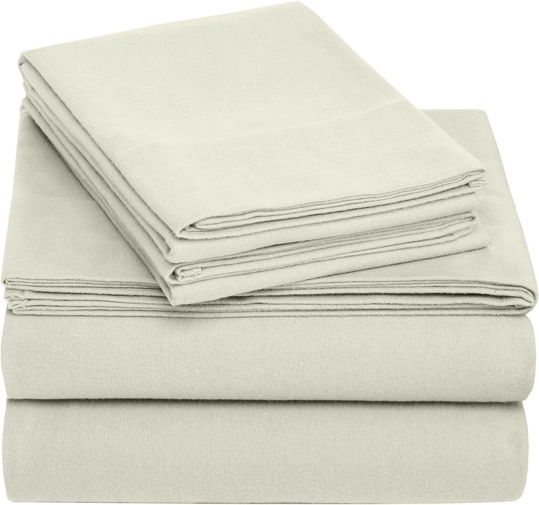 Brand – Pinzon Cotton Flannel Bed Sheet Set - King, Sage : Home & Kitchen