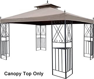 APEX GARDEN Replacement Canopy Top for 10' x 12' Monterey Gazebo #L-GZ288PST-4H / L-GZ288PST-4D