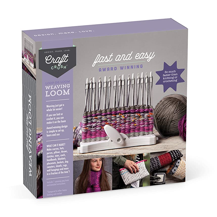 Craft Crush Weaving Loom - Learn to Weave Scarves, Gloves & More - Crafting Kit for Teens & Adults - from The Makers of Loopdeloom