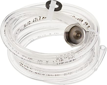 5 Feet of 3/16 ID (7/16 OD) Clear Beer Line with Hexnut Assembly