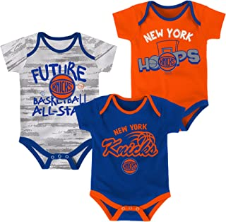 OuterStuff NBA Unisex-Baby NBA Newborn & Infant 3 Piece Onesie Set