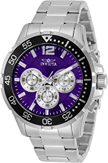 Men's Specialty Quartz Watch with Stainless Steel Strap, Silver, 22 (Model: 25755)