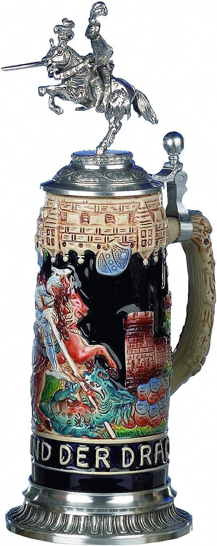 King German Beer 35% OFF Stein Award St. George Knight 0.5 liter tankard